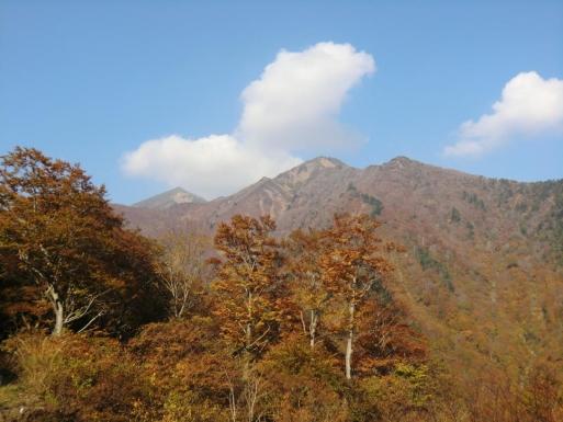 マチガ沢から白毛門と笠ヶ岳