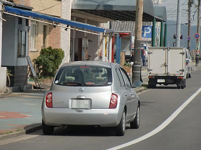 鞆の浦でセカンドカーのmarchロケ
