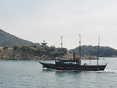弁天島と平成のいろは丸