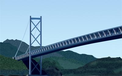因島大橋描いてます