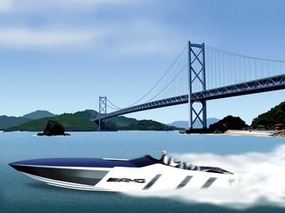 瀬戸内をカッ飛ぶパワーボート