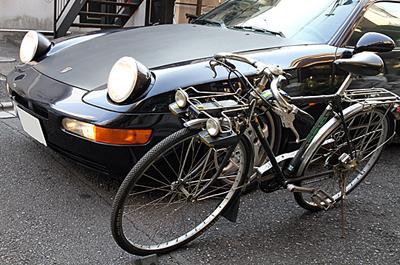 ポップアップライトの自転車