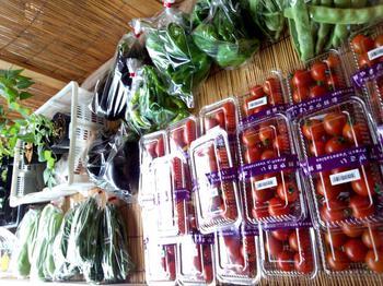 白川郷 地元で採れた野菜なども入荷