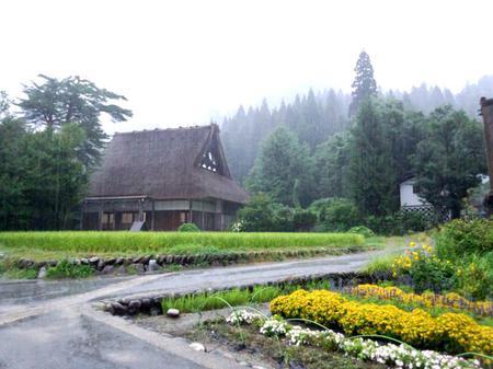 大自然に囲まれた白川郷~雨にも強い ⑤