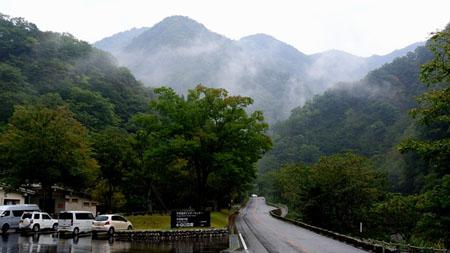 白山スーパー林道 石川県側 中宮展示館前 標高600m ⑥