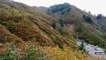 白山スーパー林道 石川県側 三方岩駐車場 標高1,450m ①