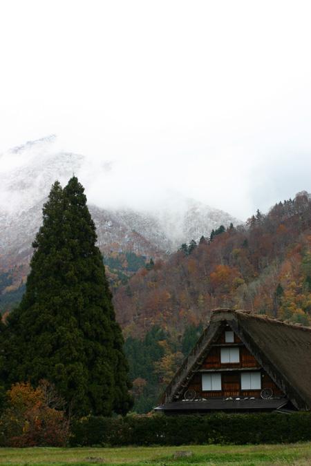 雪と紅葉が競演~世界遺産 白川郷合掌集落~ ⑪