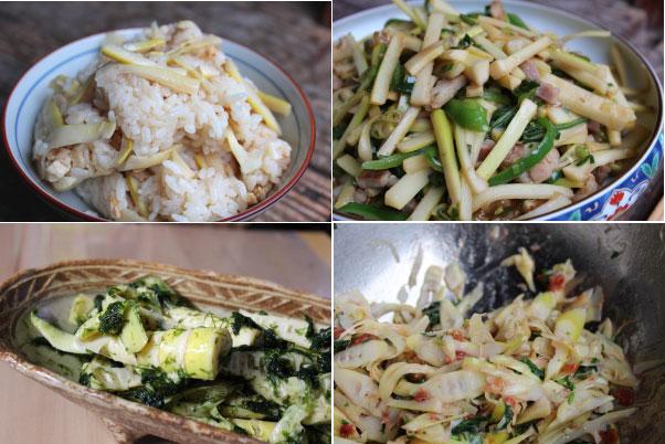 竹の子料理の数々、、