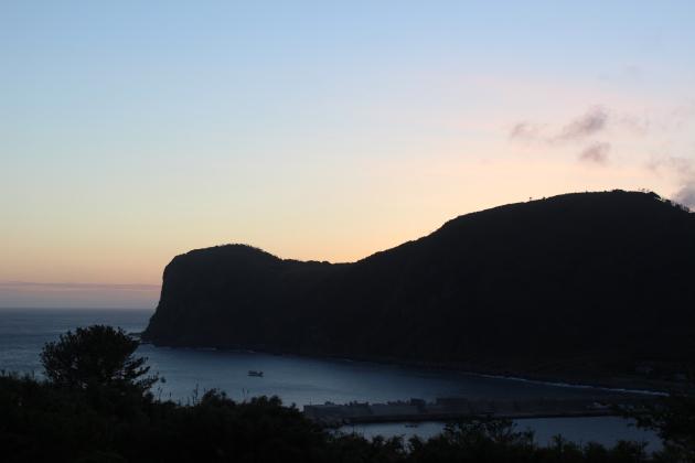 「夕景」のテラスから眺める夕焼け