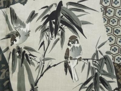 竹に雀の着物