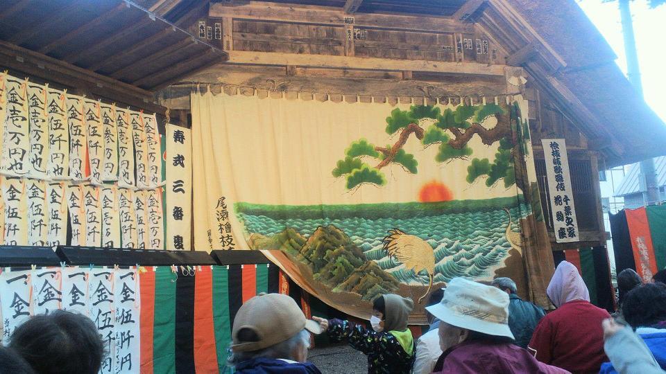 桧枝岐の舞台