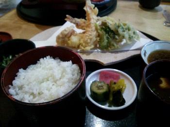 722天ぷら定食