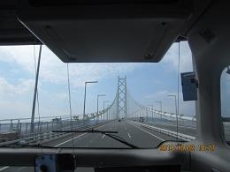 102車窓より明石海峡大橋 ブログ