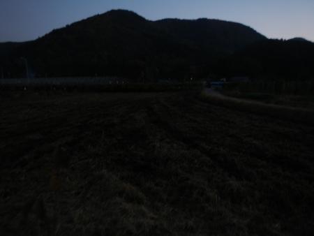 大豆畑の耕起作業 (3)