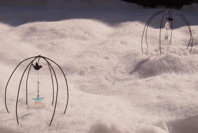 庭の雪もほとんど融けました。