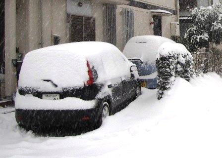 雪に覆われた我が車