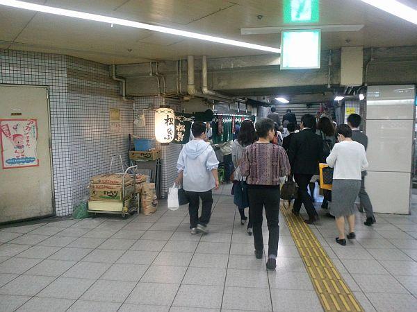 JR大阪駅へ向かう途中
