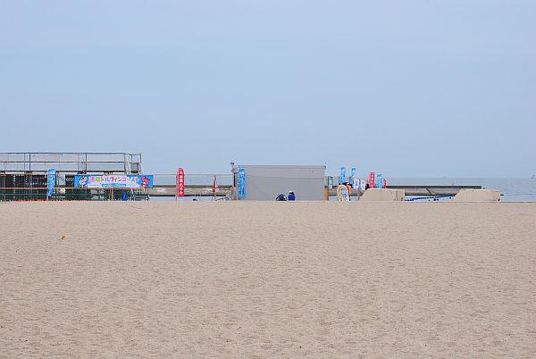 海浜水族館の海側です