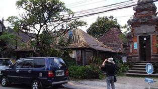 20140926バリ島,草屋根修復