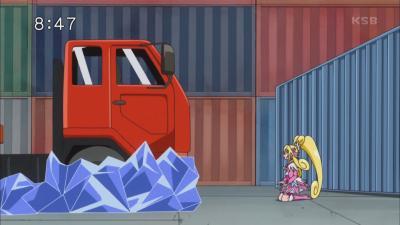 トラックが止まった!