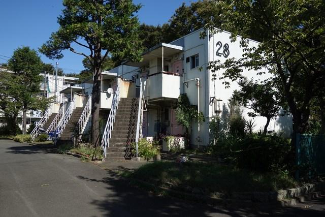 都公社祖師谷住宅の2階建て住棟