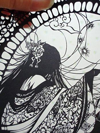 月を見つめる輝夜姫②