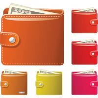 財布Wallet-vector