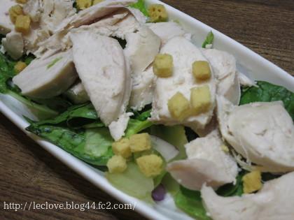 鶏胸のせサラダ