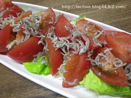 定番のトマトのサラダ