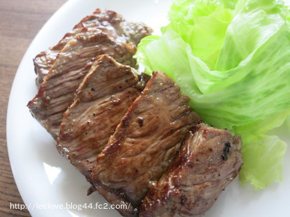 タスマニアビーフのステーキ