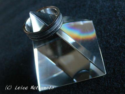 クリスタルガラス製リングベース