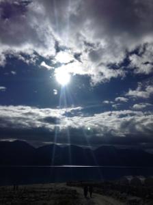 4-7パンゴン湖・2日目の朝日