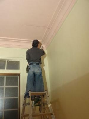 ピンクの部屋塗装