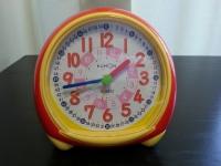 【子育て生活】 幼児の時計を読む練習用に「くもん出版スタディめざまし時計」♪
