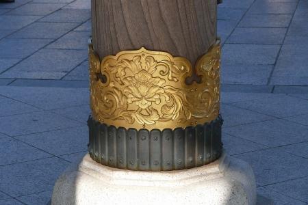 総門の支柱