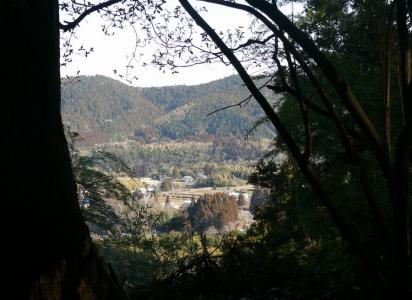 見下ろす田舎の景色