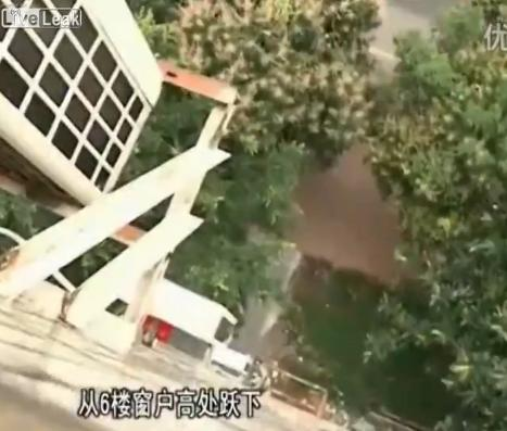 4 yo home alone girl jumps off six story building by holding umbrella