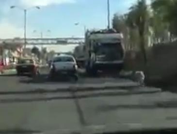 Lady Tries To Abandon Her Dog On Highway But Cannot