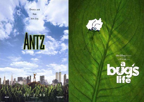 Antz en A Bug's Life - 1998