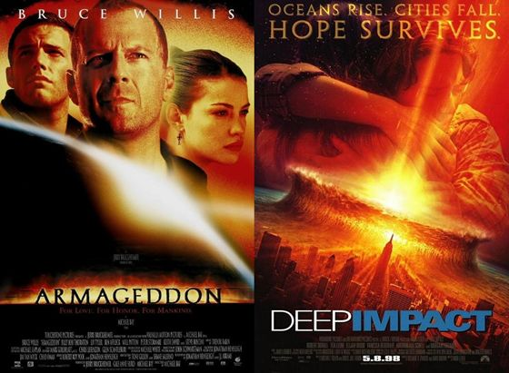Armageddon en Deep Impact - 1998