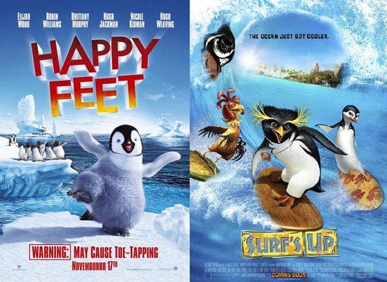 Happy Feet (2006) en Surfs Up (2007)
