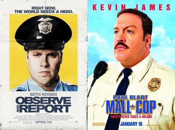 Observe and Report en Paul Blart Mall Cop - 2009