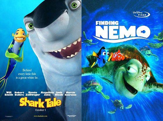 Shark Tale (2004) en Finding Nemo (2003)