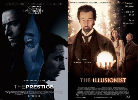 The Prestige en The Illusionist - 2006