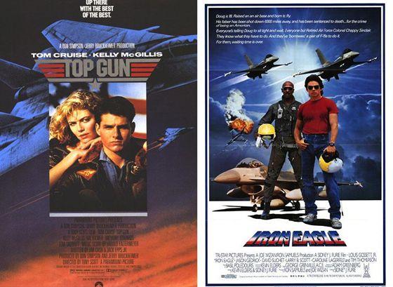 Top Gun en Iron Eagle - 1986