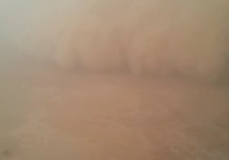 Rafha sandstorm from plane at 1000m