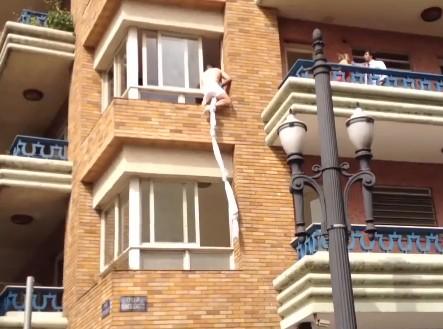 Amante pulando da janela no centro de Sao Paulo