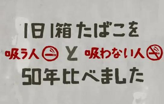 1日1箱タバコを吸う人と吸わない人を50年比べました