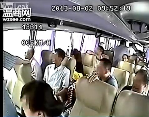 Inside video of bus crash in China