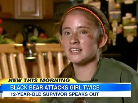 12 Year Old Girl Thought She Was a Goner in Bear Attack